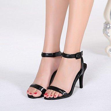LvYuan sandali delle donne della molla ufficio in pelle scarpe club estivo&partito carriera&sera Black