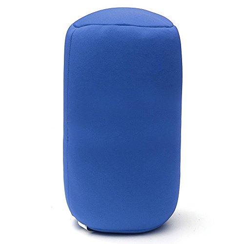 vap26 Microbead Roll Kissen Nacken Taille Rücken Kopfstütze Schlafkissen Reisen(Blau) -