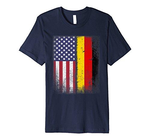 Deutsch-Amerikanischen Flagge T-Shirt Deutschland USA -