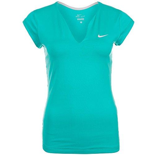 Nike Pure Haut à manches courtes Femme Bleu - Light Retro/Matte Silver