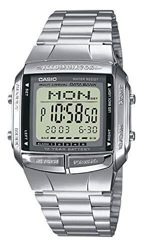 Casio orologio digitale quarzo uomo con cinturino in acciaio inox db-360n-1aef