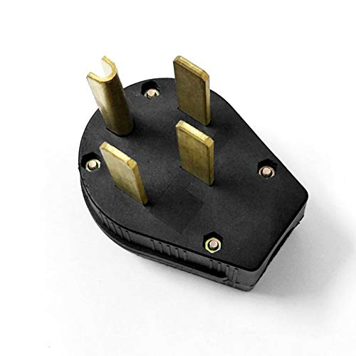 0Miaxudh, US-Stecker Steckdose, 50A 125-250V 4-Loch-Anschlussstecker für Stromkabel - Schwarz 50a Steckdose