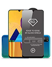 SupCares Edge to Edge Tempered Glass for Samsung Galaxy M30S / M30 / A50S / A50 / A30 with Easy Installation Kit, Black (1)