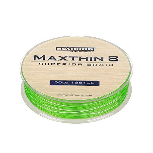 KastKing Maxthin8 Braid Fishing Line - 30% Thinner than Competitor Brands- 165Yds/150M Super Strong 8 Strands Premium Braided Line -ICAST Award Winning Brand (Aqua Green, 165-Yard/15LB (7.26KG))