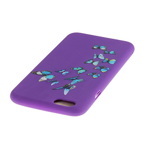 iPhone 6S Coque,iPhone 6 Case,iPhone 6 Cover - Felfy Cas Ultra léger Mince Slim Gel Souple Soft Flexible TPU Silicone Fashion Couleurs de Bonbons Etui Couverture de Protection Bumper Anti Rayures Anti Violet Papillon