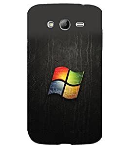 printtech Windows Leather Logo Back Case Cover for Samsung Galaxy Grand Neo Plus / Samsung Galaxy Grand Neo Plus i9060i