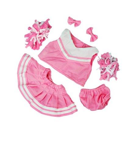 Pink/Weiß Cheerleader Teddybär Outfit (40,6cm)