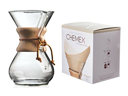 Chemex Bundle–2Artículos: Classic cristal cafetera y fsu-100naturales filtros cuadrados