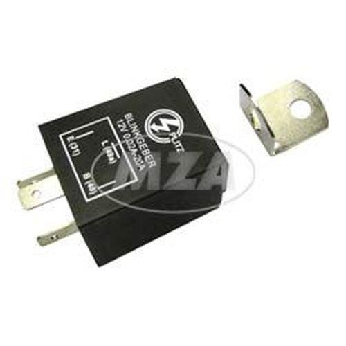 Preisvergleich Produktbild Elektronischer Blinkgeber 12V - PLITZ - 3-poliger Anschluß (31,  49,  49a) - 0, 02- 20A entspricht 0, 24-240W - universell einsetzbar - mit Haltewinkel