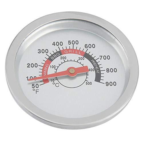 Thermometer-box (Barbecue Thermometer Edelstahl Barbecue Bbq Smoker Grill Thermometer Temperaturanzeige 50-90 ℉ Es ist eine kleine weiße Box angebracht)