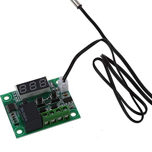interruptor de control de temperatura de -50 a 110 ° C Micro Electrónico panel de control de la temperatura del termostato digital CDKJ W1209 DC 12V Digital