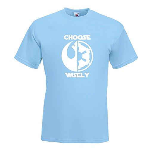 KIWISTAR - choose wisely T-Shirt in 15 verschiedenen Farben - Herren Funshirt bedruckt Design Sprüche Spruch Motive Oberteil Baumwolle Print Größe S M L XL XXL Himmelblau