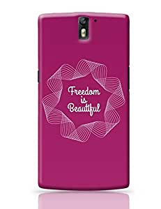 PosterGuy OnePlus One Case Cover - Freedom Is Beautiful | Designed by: Studio Myna