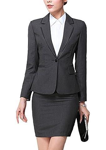 SK Studio Women's 2 Piece Working Dress Jacket Skirt Suits