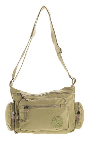 Big Handbag Shop, Borsa a tracolla donna Messenger Style 1 - Camel