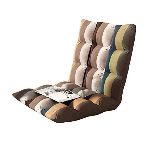 FS Boden Stuhl, Lazy Couch Tatami Klappbett Rückenlehne Balkon Fenster Stuhl, Kann Zum Lesen Von Zeitungen/Meditation, Gestreifte Modelle Verwendet Werden (Size : 78×40×10cm) -