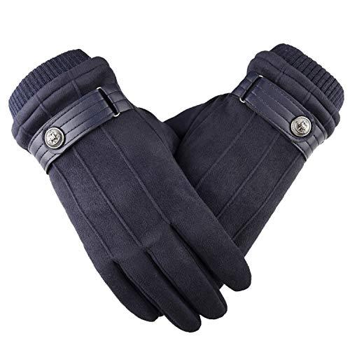 Nosterappou Loisirs en plein air, écran tactile polyvalent, fait référence à cinq doigts, la conduite, le cyclisme, la chaleur, des gants antidérapants, d'équitation, l'épaississement et le velours po