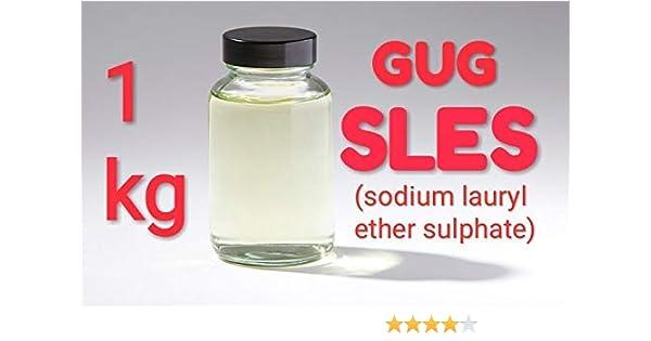 GUG SLES(sodium lauryl ether sulfate) Cleansing Agent,Surfactant,  Emulsifying Agent (900gms)
