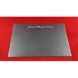 Schieferplatte 30 x 20 cm als Servierplatte/ Platzset