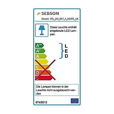 SEBSON® LED Clip on Light, Reading Lamp, dimmable, 3 Brightness Level, rechargabel Battery, white - low-cost UK light store.