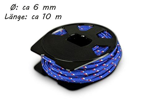 Helmecke & Hoffmann * 10 m Universal-Seil aus Polypropylen (PP)   Tau Strick Schnur   Farbe: Blau oder Rot   Ø ca. 6 mm (Blau)