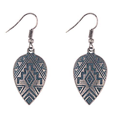 Kofun Ohrringe, 1 para Kreative Legierung Geprägte Nepal Stile Ohrringe Vintage Ohrhaken Minimalismus Elegantes Design Weibliche Danglers Schmuck Geschenk B