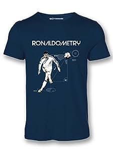 Sportskeeda Cristiano Ronaldo Ronaldometry Football T-shirt Navy Blue - XXL