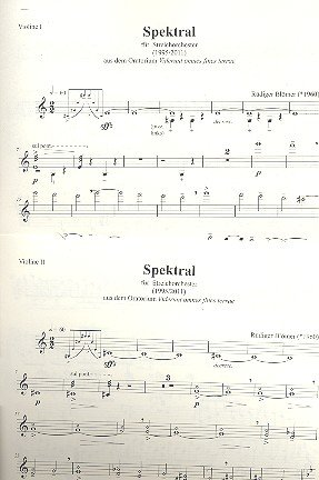 Spektral : für Streichorchester Stimmensatz (5-4-3-2-1)