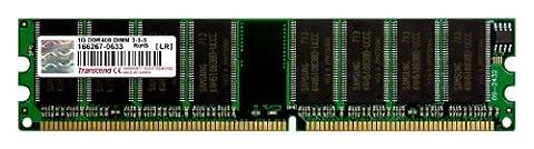 Transcend 1GB DDR Arbeitsspeicher PC-3200 400MHz (184 Pin Ddr Sdram Sistema)