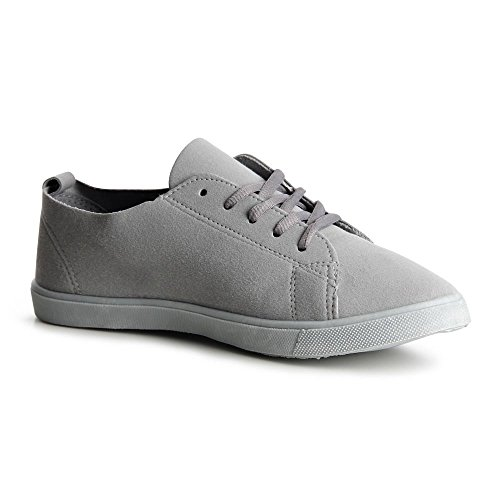 topschuhe24755–Baskets Chaussures de sport femme–Fleur Gris - Gris