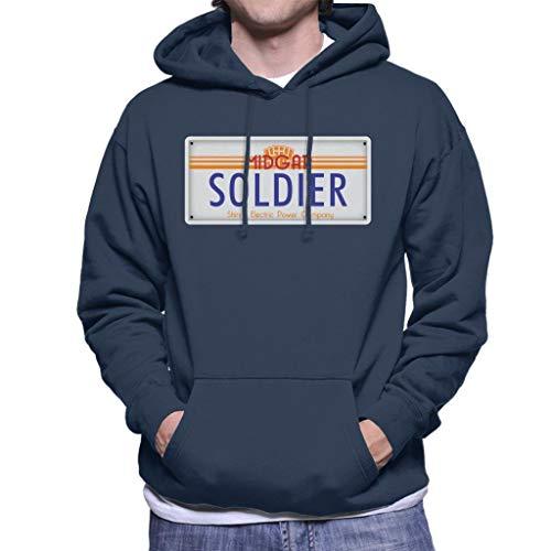 Cloud City 7 Final Fantasy Midgar Soldier License Plate Men's Hooded Sweatshirt