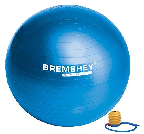 Bremshey 17AMZFU136 Bremshey Ballon de Gym 75 cm, Bleu
