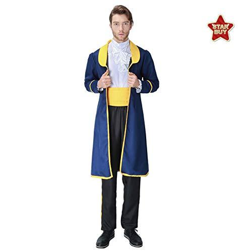 Beängstigend Kleinkind Kostüm - COSOER Prinz Uniform Cosplay Kostüm Film Charakter Kleidung Halloween Karneval Herrenbekleidung,Blue-L