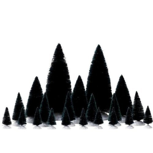 Lemax Christmas - 21 Pc Assorted Fir Trees (74691) by Lemax - Set Nativity Christmas Tree