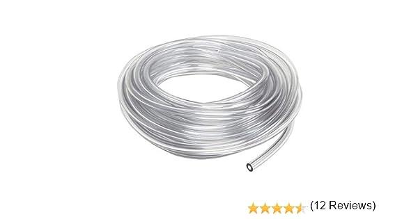 \ Tubes Flexibles Pour Vide Air P/étrole Polyur/éthane PU Pneumatique Tuyau \ 16mm x 12 mm \ 5 m/ètre \ Clair transparent