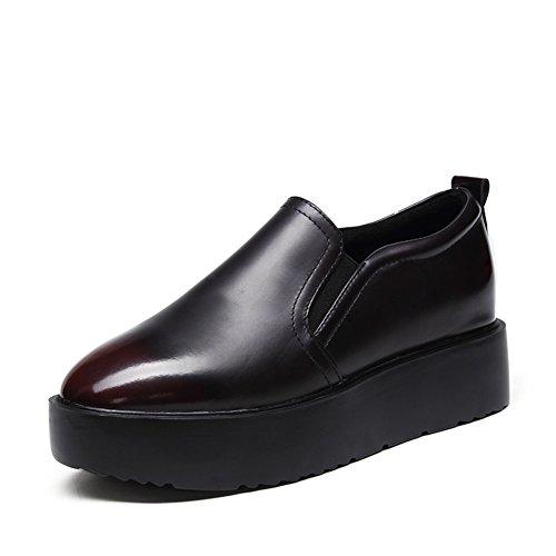 Le Fu, chaussures à semelles épaisses/Bout plat rond/Met le pied chaussures B