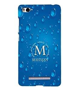 YuBingo Xiaomi Mi 4i :: Xiaomi Redmi Mi 4i Designer Phone Back Case Cover ( Monogram with Beautifully Written Surname Mahajan )