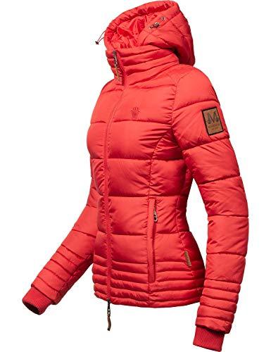 Marikoo Damen Winterjacke Stepp-Jacke Sole Rot Gr. M