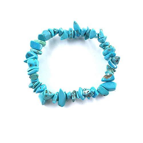 LLXXYY Stein Armband,Natürliche Edelstein Armband Stretch Chip Perlen Nuggets Granat Crystal Coral Quarz Armbänder Armreifen Für Frauen