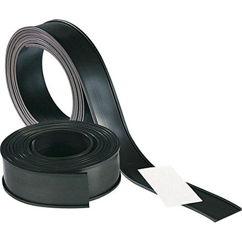 LEMAX® Magnetisches C-Profil auf Rolle, schwarz, Kunststoff, 40mmx50m