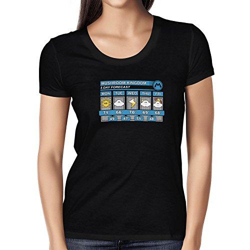 TEXLAB - Mushroom Kingdom Weather Forecast - Damen T-Shirt Schwarz