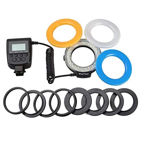 Sen-Sen Makro-LED-Ring-Blitzlicht für Canon für Nikon für Panasonic für Pentax-Kamera schwarz Canon 58mm Adapter