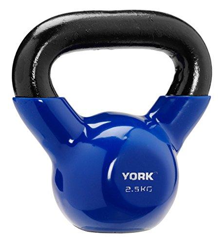 York Fitness Vinyl getaucht Cast Kettlebell, unisex, Vinyl Dipped, blau (Cast York)