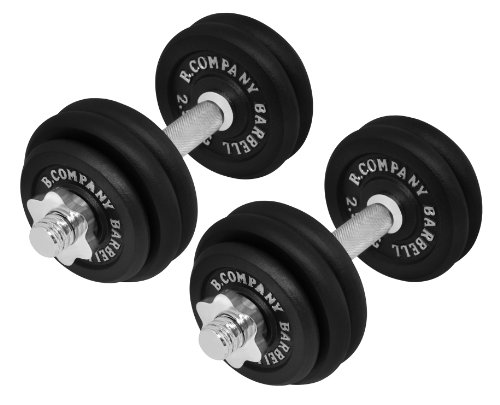 Bad Company | 2er Set Kurzhanteln Gusseisen 30kg (2 x 15 kg) | Professionelles Equipment für Krafttraining und Kraftausdauer
