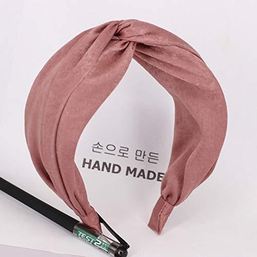 Fang-denghui, Korea Boutique Hairband Satin Knoten Stirnband Für Frauen Mädchen Haar Kopfband Bands Zubehör Für Frauen Haargummi Hairband Kopfschmuck (Color : 20) -