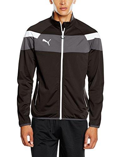 PUMA Herren Jacke Spirit II Trikot Jacket Trainingsjacke black-White L