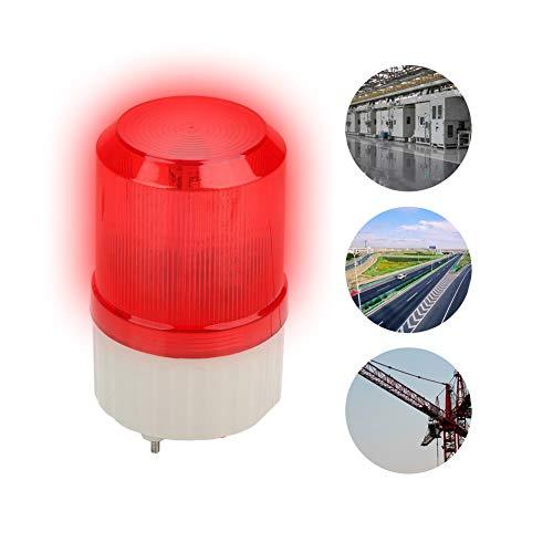 220V 2A 20W Runde Sicherheitsalarm LED-Licht,120 Dezibel Notfall-LED-Blitzleuchte Warnlicht LED Warnleuchte für gefährliche Bereiche wie Werkstatt,Kranturm,Verkehrsbau Alarm Licht