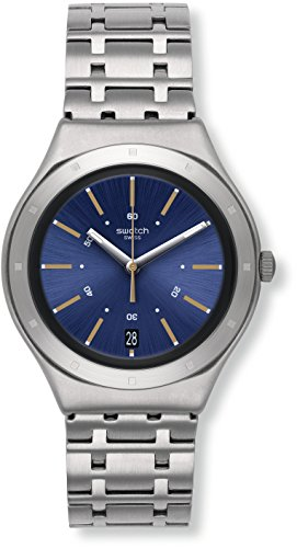 Swatch Damen Digital Quarz Uhr mit Edelstahl Armband YGS472G