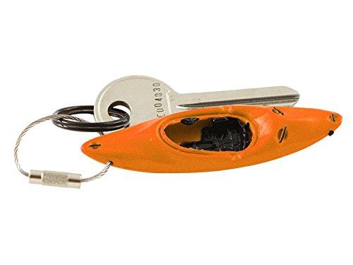 Schlüsselanhänger Wildwasser Kajak Kanu Boot Paddeln detailgetreuer Anhänger, Farbe:orange