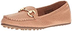 Aerosoles Womens Drive Through Slip-On Loafer, Tan Snake, 8 W US